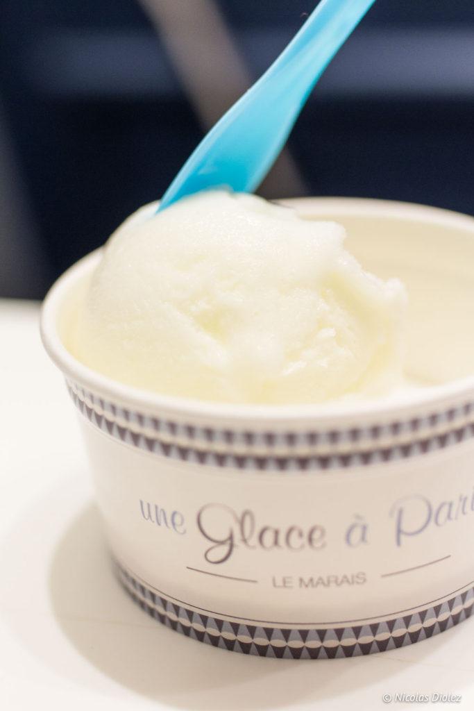 Glace fromage blanc de brebis Une Glace à Paris