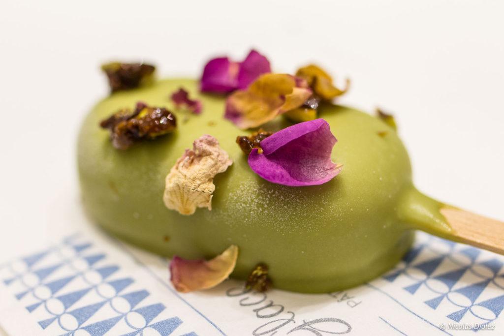 Esquimau glacé thé matcha geranium Une Glace à Paris