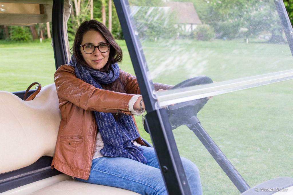 Melle Bon Plan voiturette golf hôtel du Golf à Vaudreuil Eure