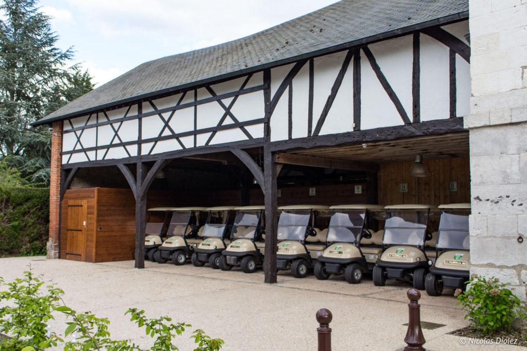 voiturettes de golf hôtel du Golf à Vaudreuil Eure