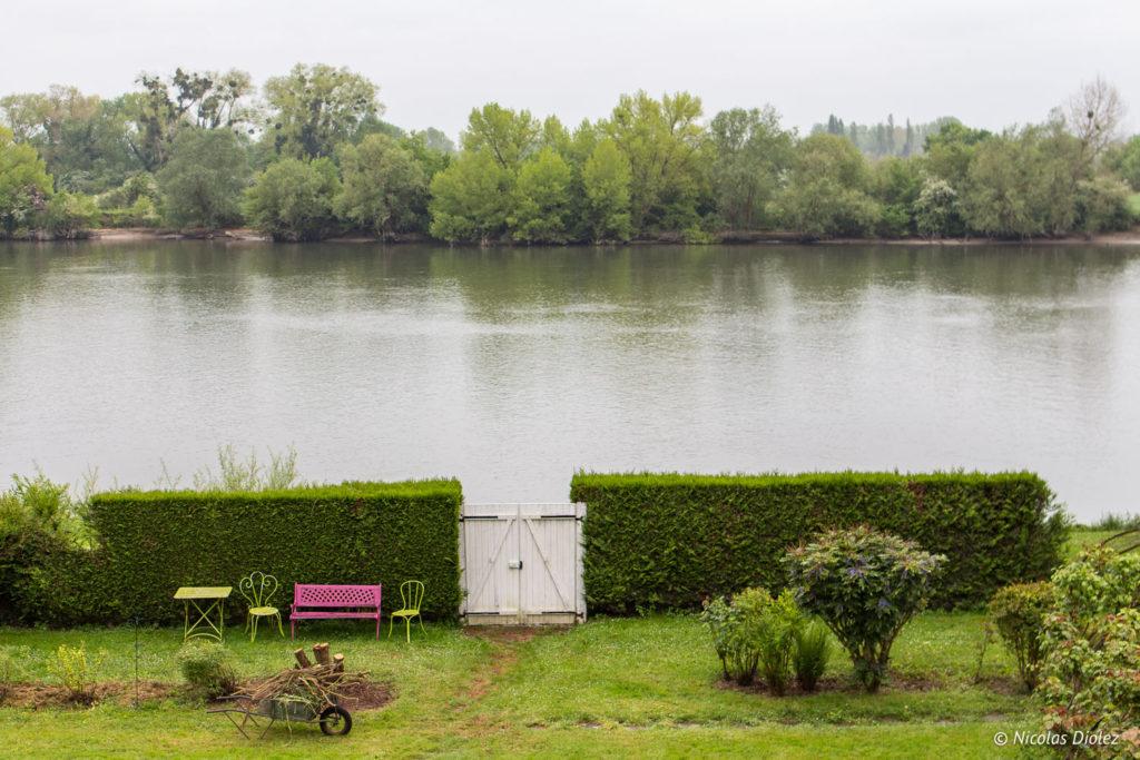 jardin Chambre d'hôtes la Canotière aux Andelys Eure