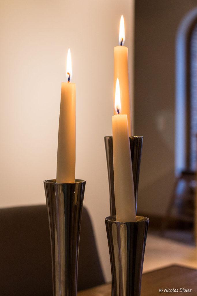 bougies restaurant Manoir de Surville Eure
