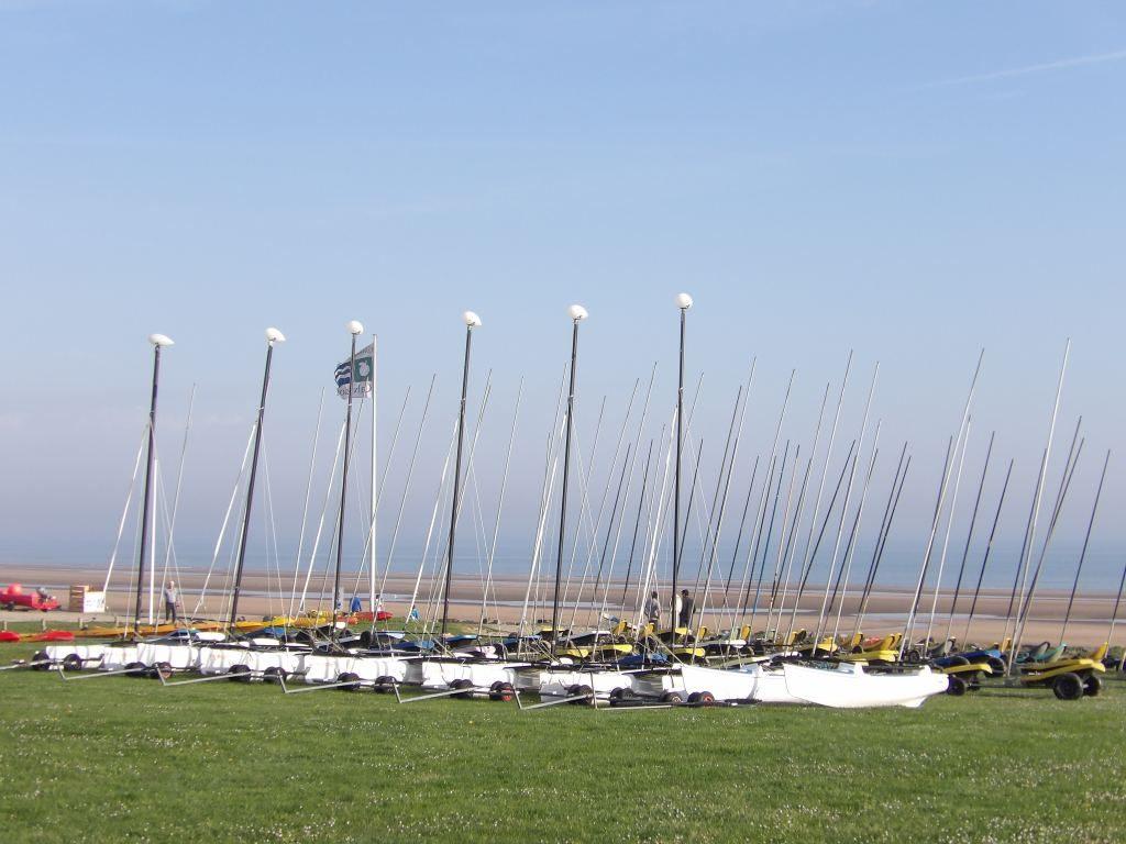 Char à voile plage d'Omaha beach Calvados