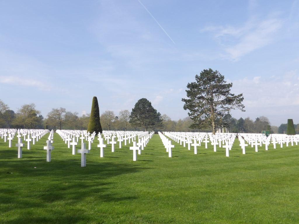 tombes Cimetière Militaire Américain de Normandie