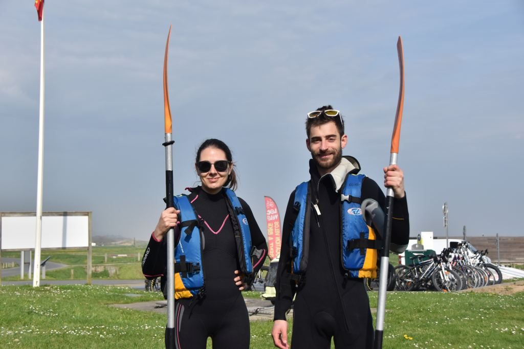 Kayak mer plage d'Omaha beach Calvados