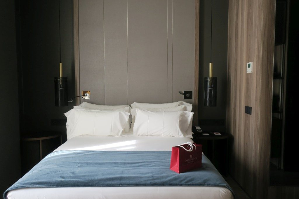 chambre lit Hotel NH Collection Madrid Gran Via