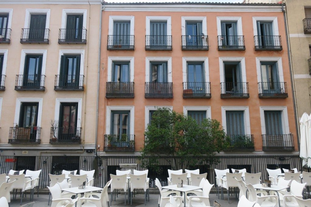 immeubles fenêtres Madrid