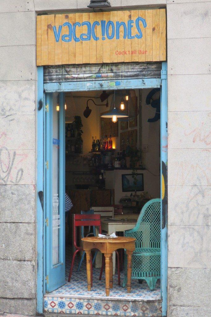 facade bar Madrid