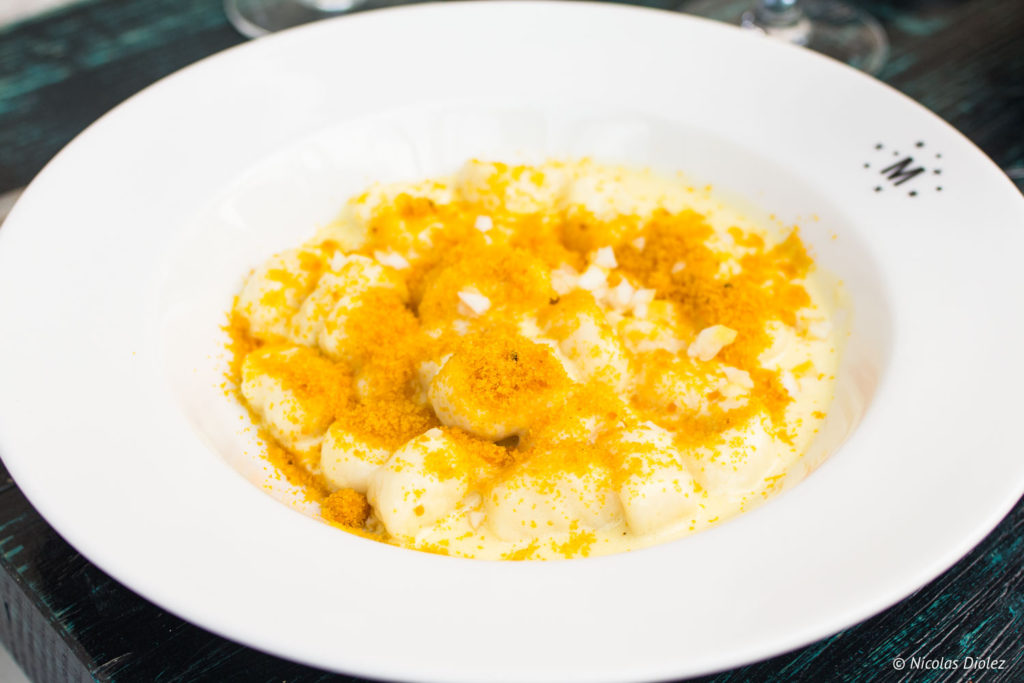 Gnocchi de ricotta restaurant Marcello Paris
