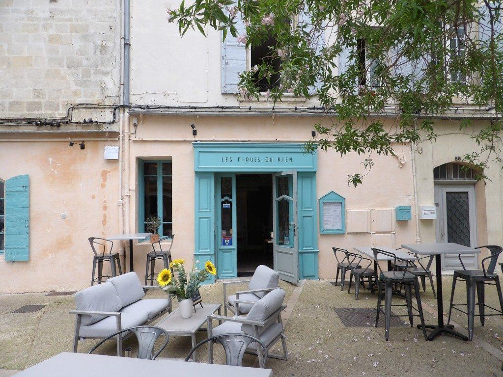 terrasse Restaurant Des Piques ou Rien Arles