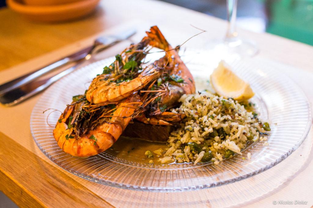 gambas restaurant Blitz Paris