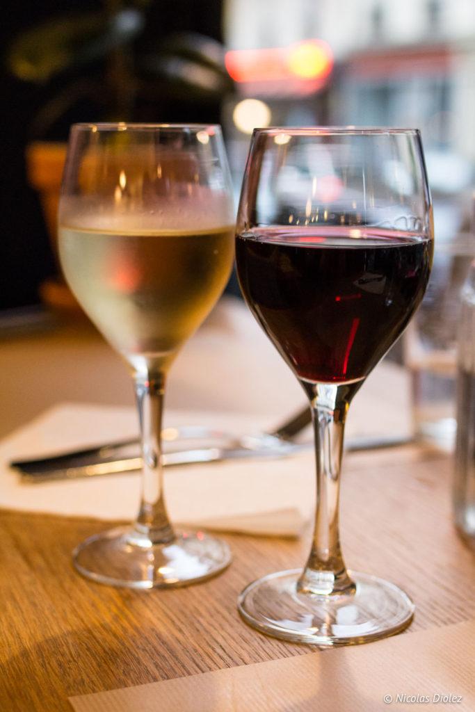 verres de vin restaurant Blitz Paris
