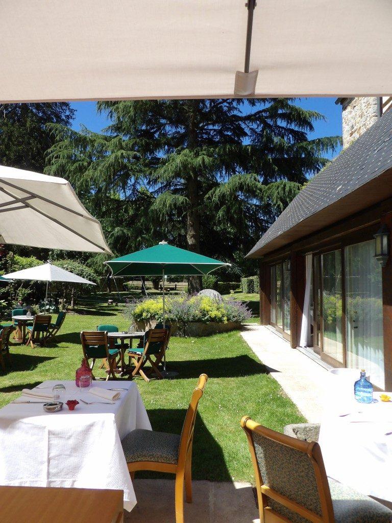 terrasse Manoir du Lys Bagnoles de l'Orne