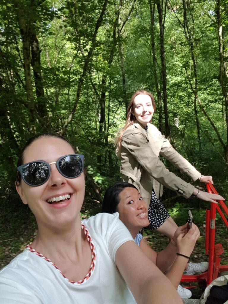 selfie vélo-rail Bagnoles de l'Orne