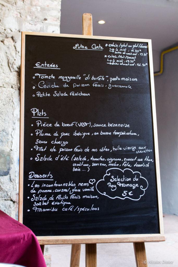 carte Restaurant l'Epicure Alençon