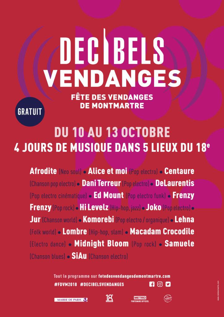 Décibels vendanges Montmartre 2018