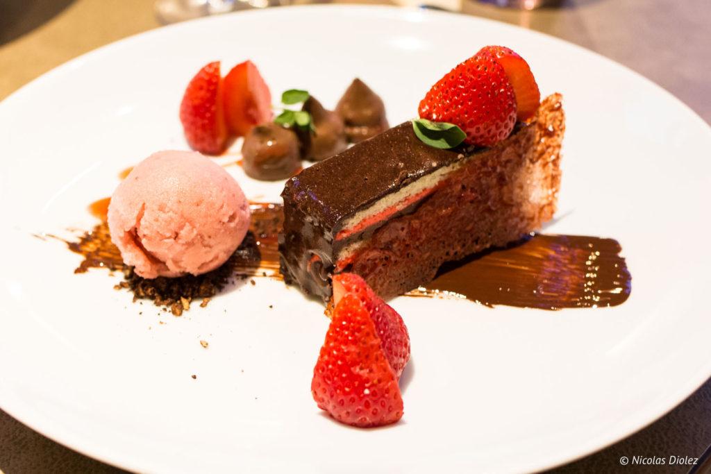 dessert restaurant Le Cheval Blanc Langres