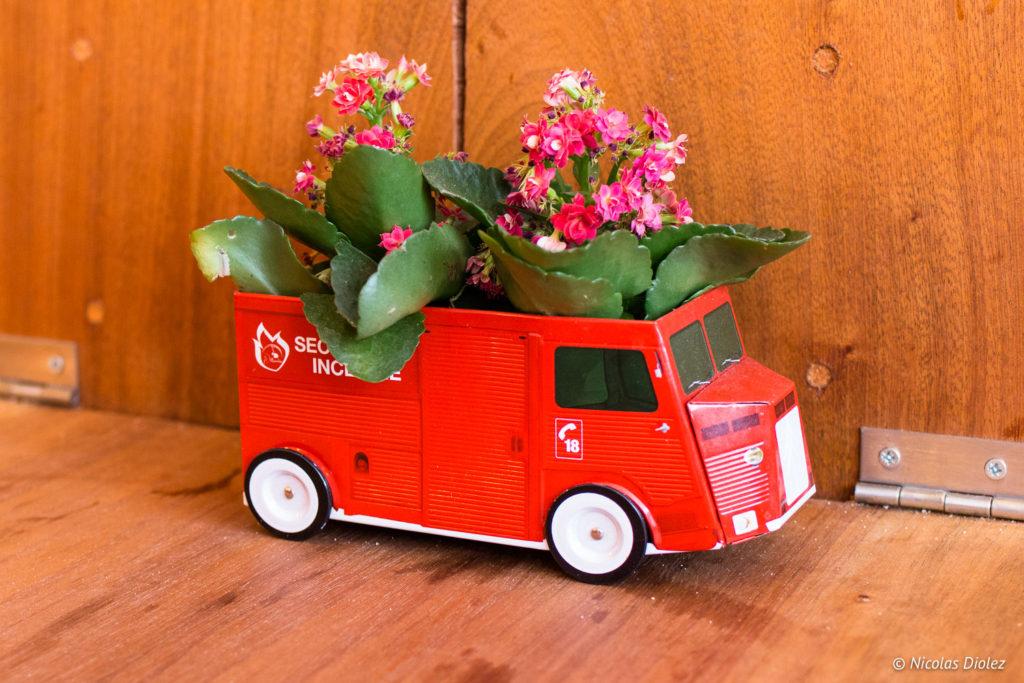 Camion rouge Le Tub