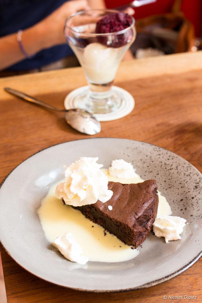 desserts glace et gateau chocolat Le Tub