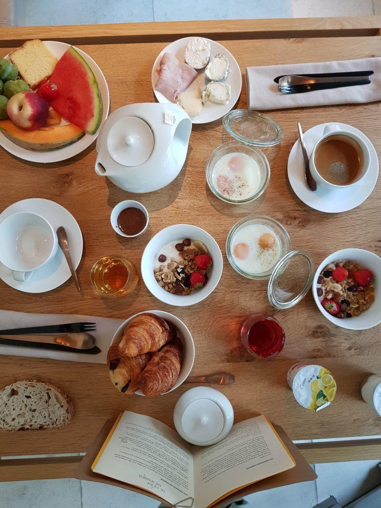 Petit déjeuner Hôtel Abbaye de Fontevraud