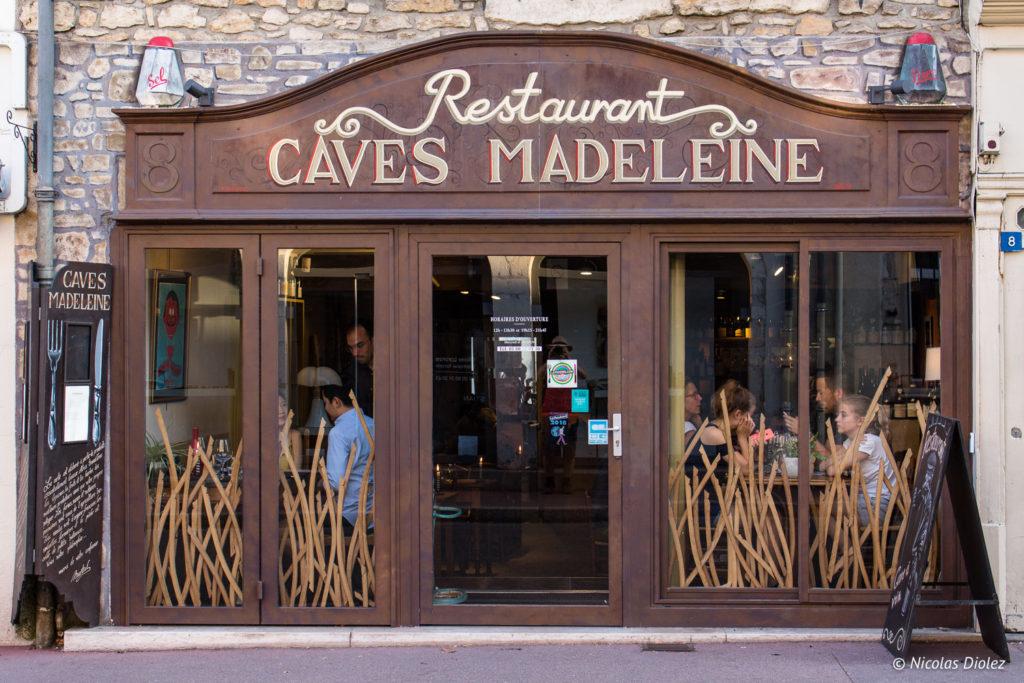 façade Restaurant Caves Madeleine Beaune