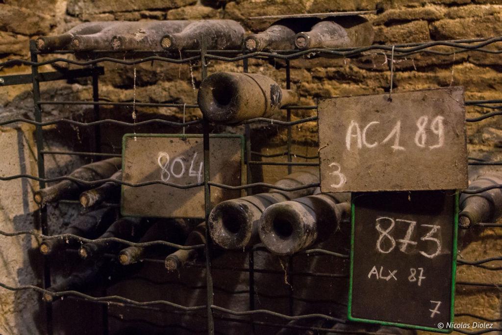 bouteilles cave Domaine de Comte Senard