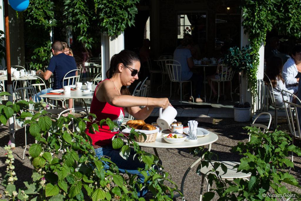 petit déjeuner Hostellerie de Bretonnière Beaune