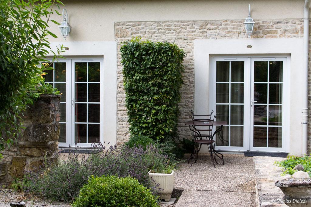 terrasse suite Hostellerie de Bretonnière Beaune