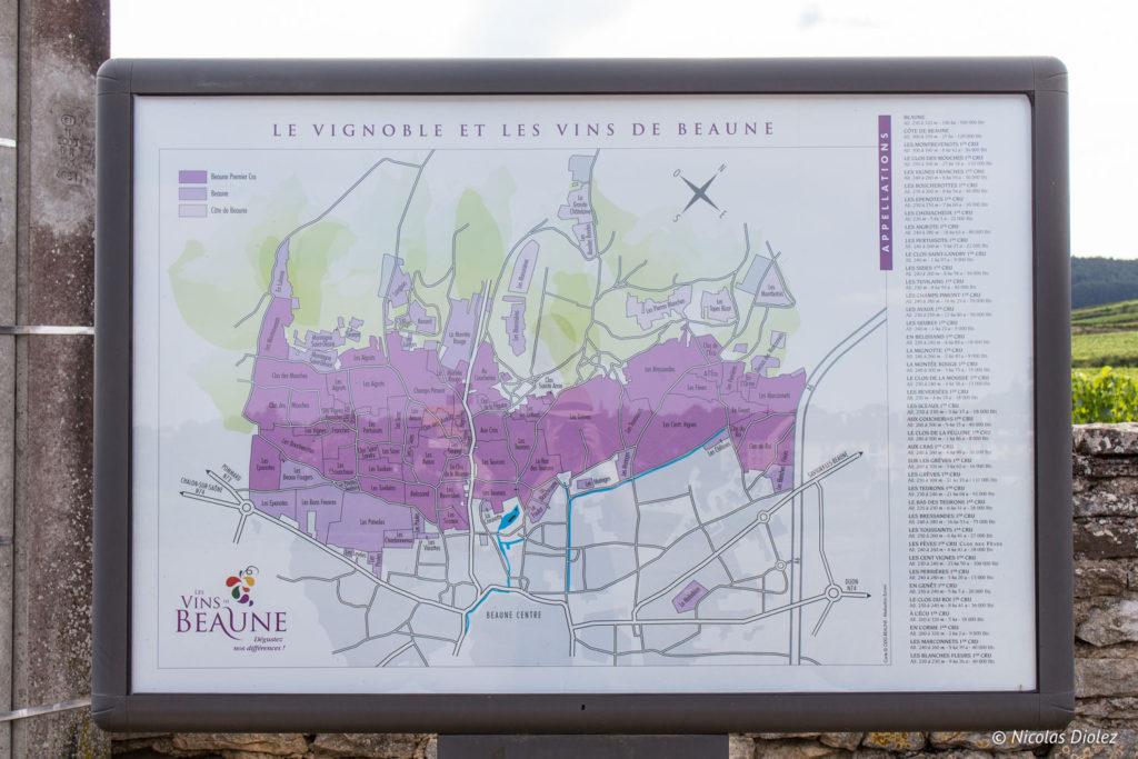 panneau Ecole des Vins de Bourgogne Beaune
