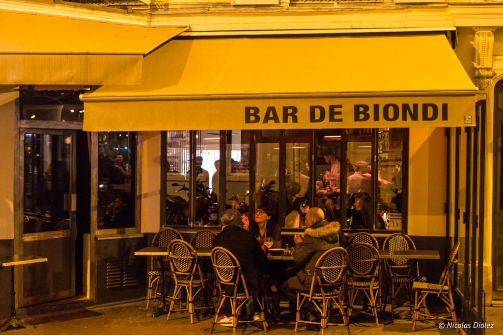 devanture Bar de Biondi Paris