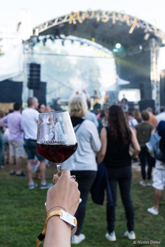 Verre vin rouge Festival Rootstock Pommard