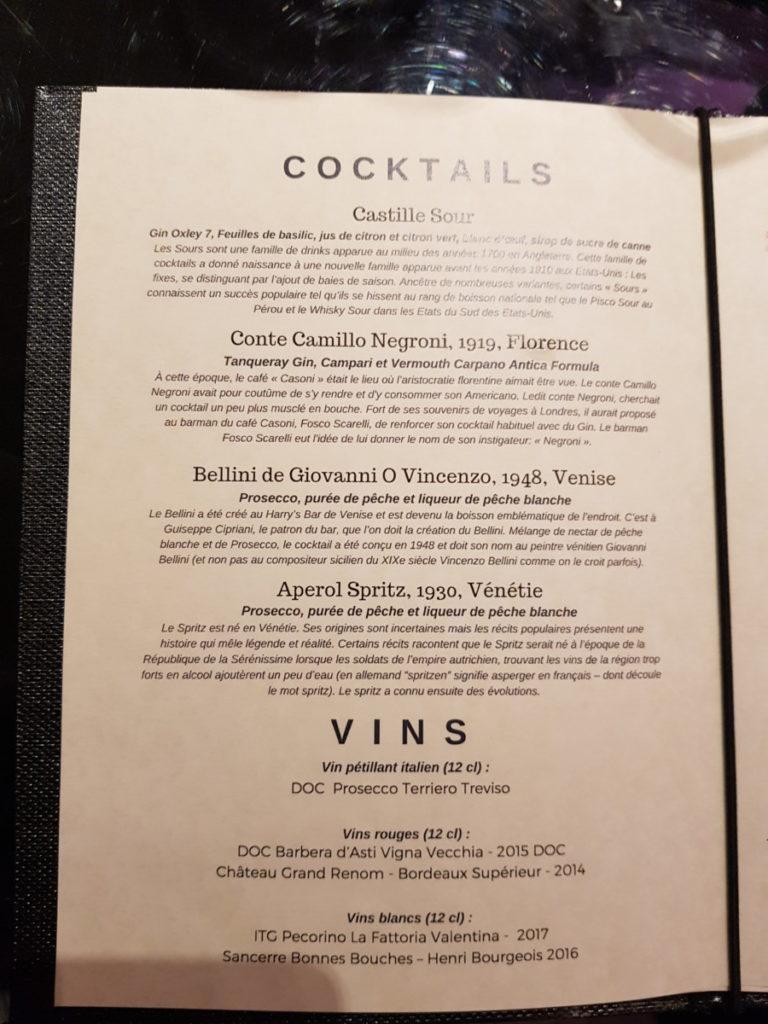 cocktail La Sinoira Castille
