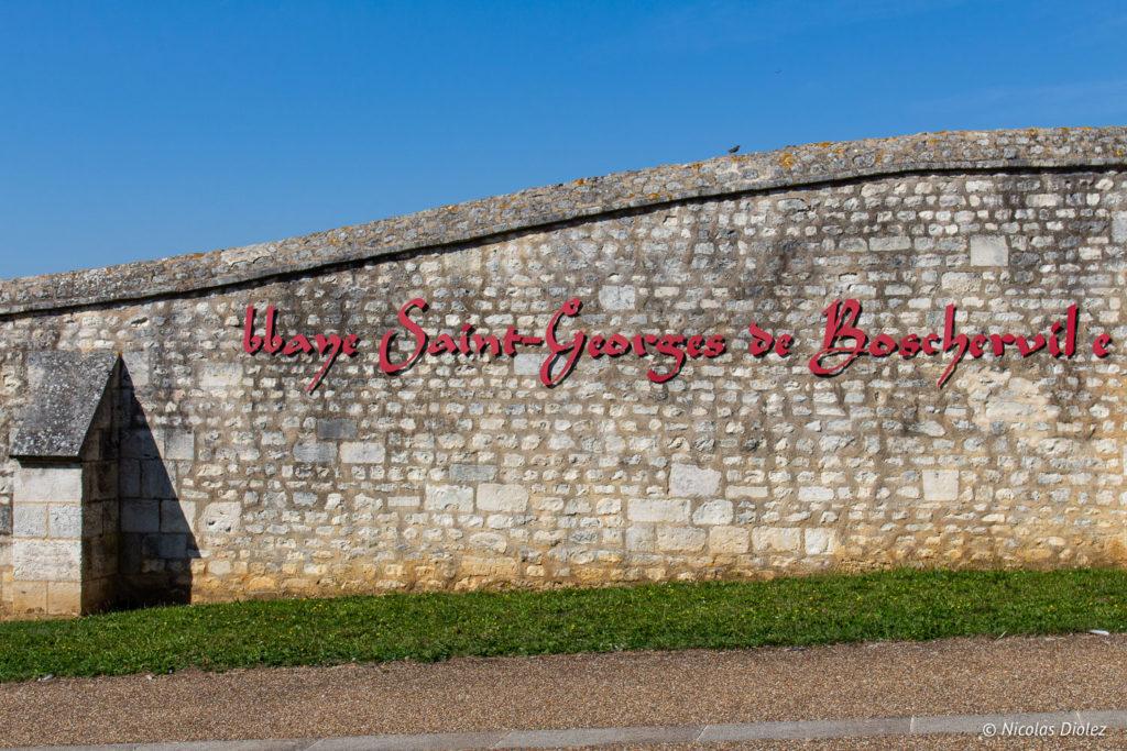 mur Abbaye Saint-Georges de Boscherville