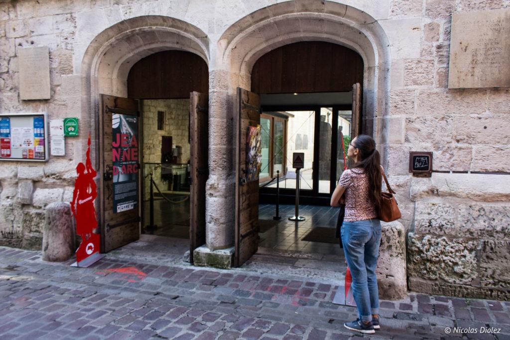 entrée historial de Jeanne d'Arc Rouen