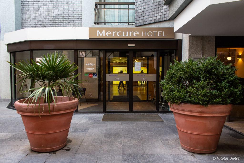 entrée Hôtel Mercure Rouen Centre Cathédrale