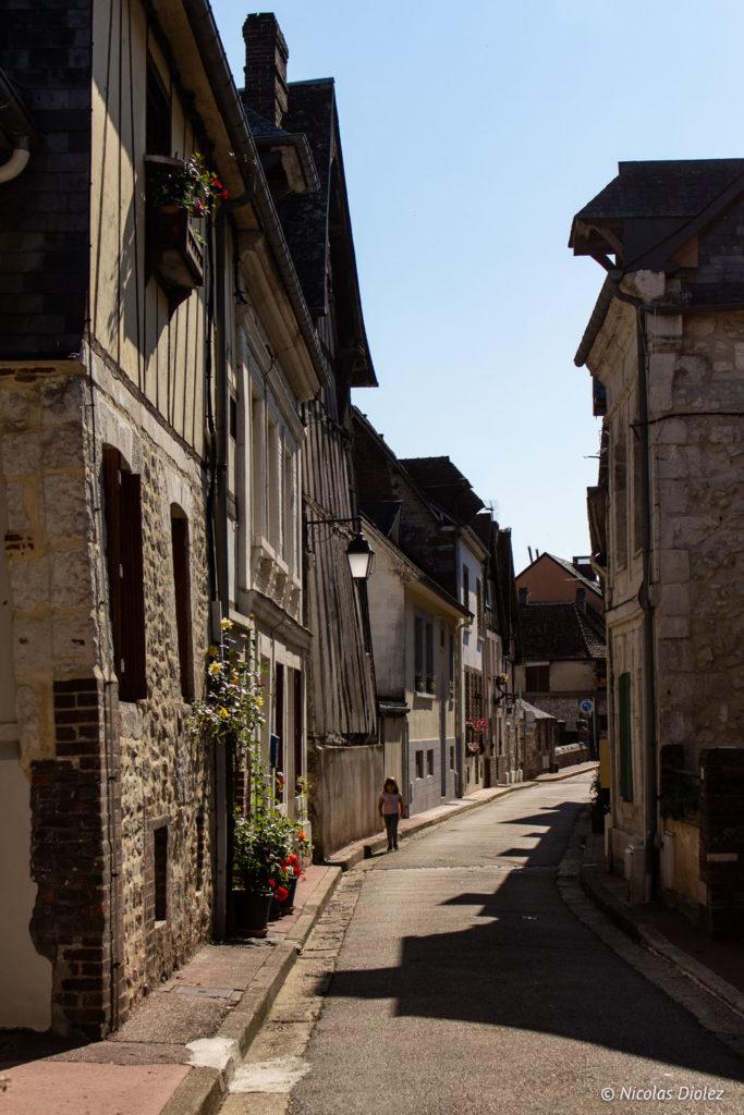 rue village de La Bouille Normandie