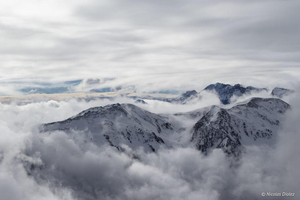 Montagne nuages Saint-Lary Pyrénées