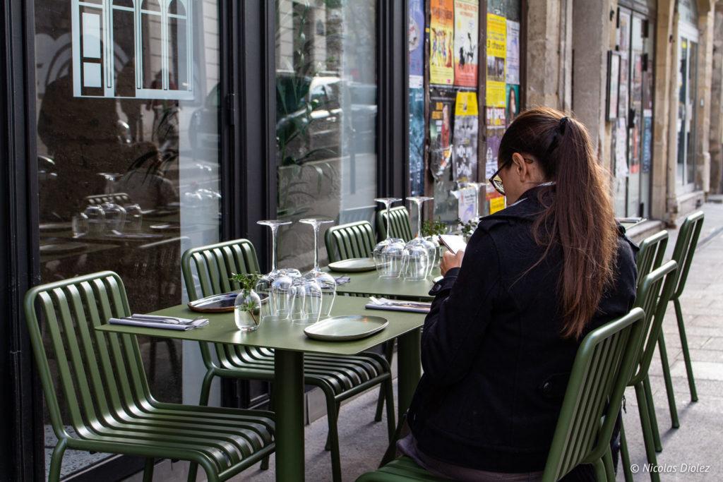 Terrasse restaurant Hébé paris