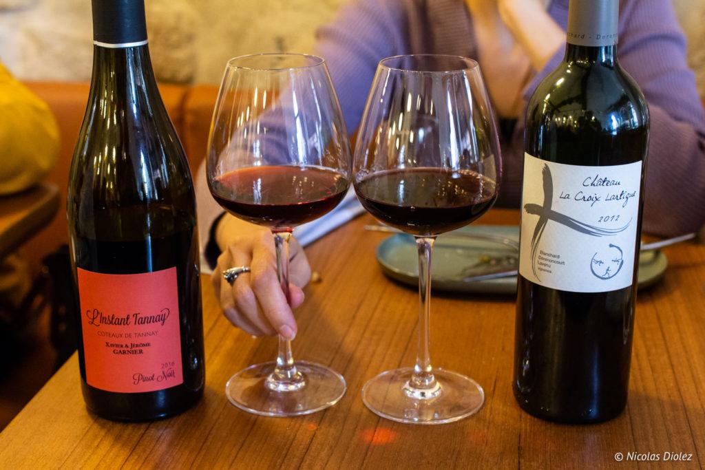 Vin restaurant Hébé Paris