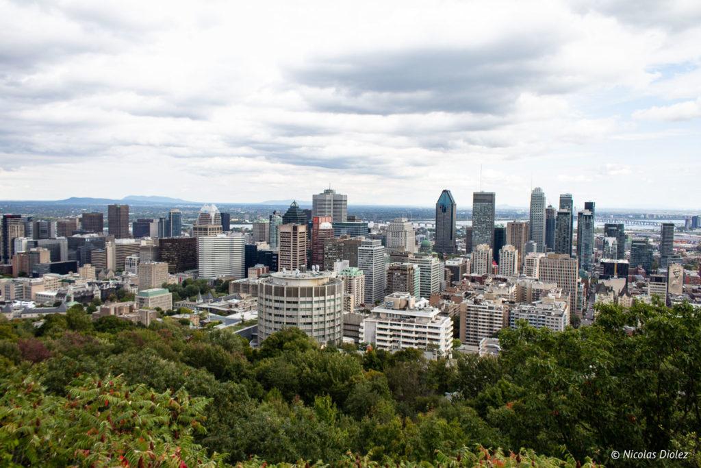 vue Montréal Mont Royal - DR Nicolas Diolez 2018