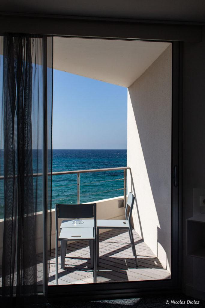balcon chambre Nhow Marseille