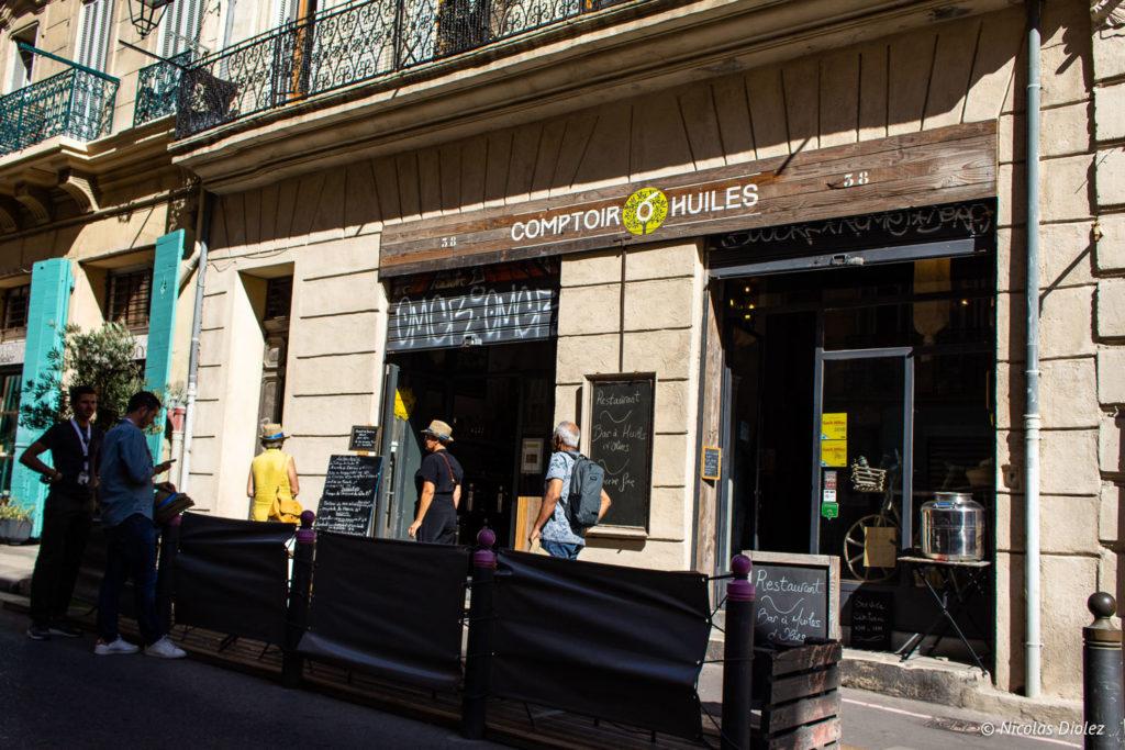 façade comptoir O huiles Marseille