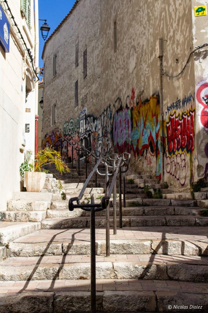 escalier Le panier Marseille