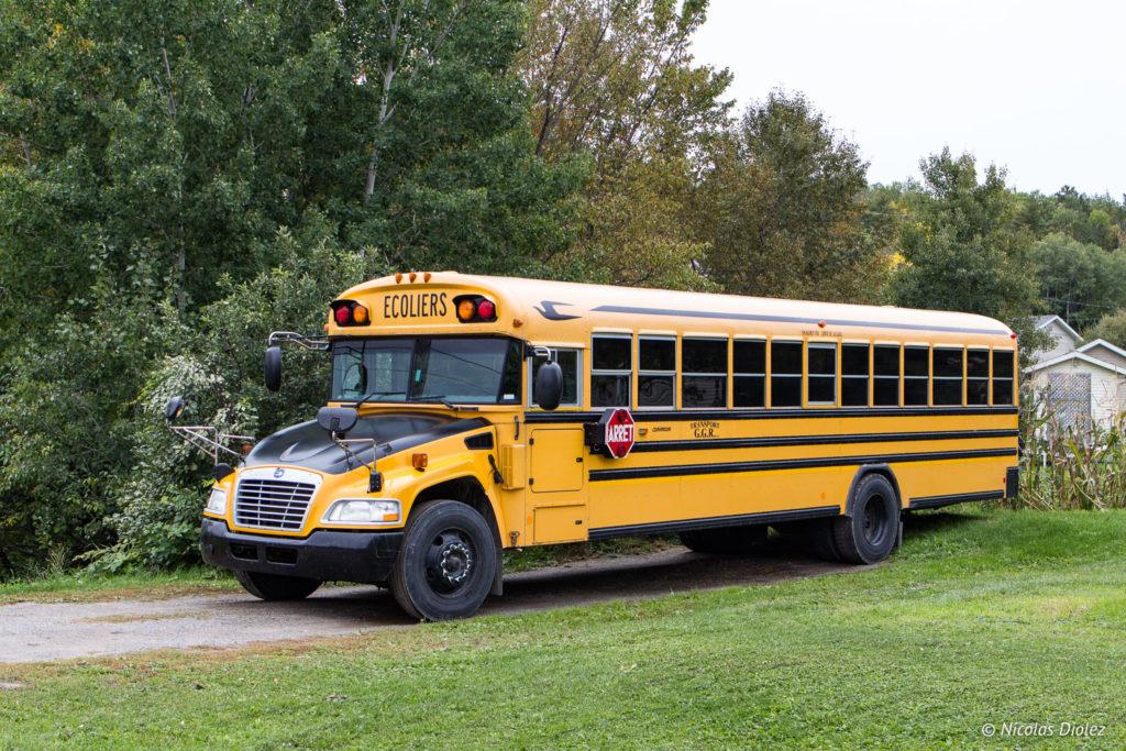 Bus scolaire Québec - DR Nicolas Diolez 2018