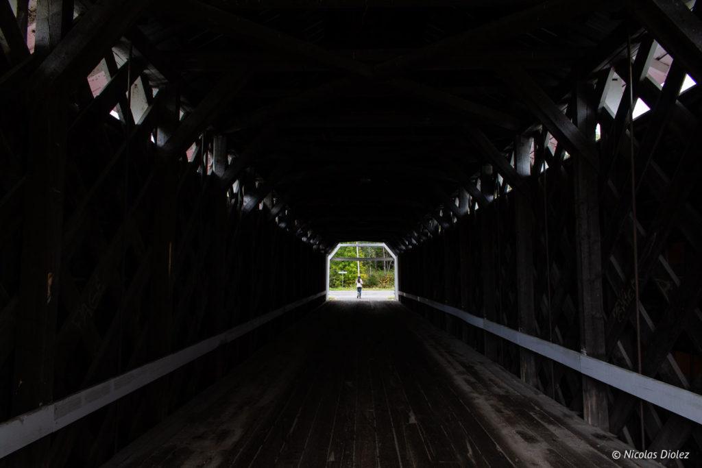 Pont couvert Macaza Laurentides Québec