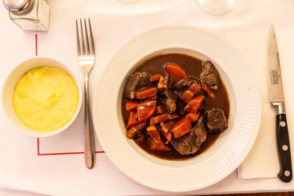 boeuf bourguignon Restaurant Lorette et les Garçons Paris