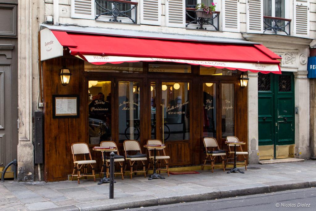façade Restaurant Lorette et les Garçons Paris