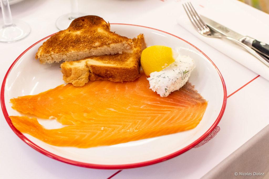 saumon Restaurant Lorette et les Garçons Paris