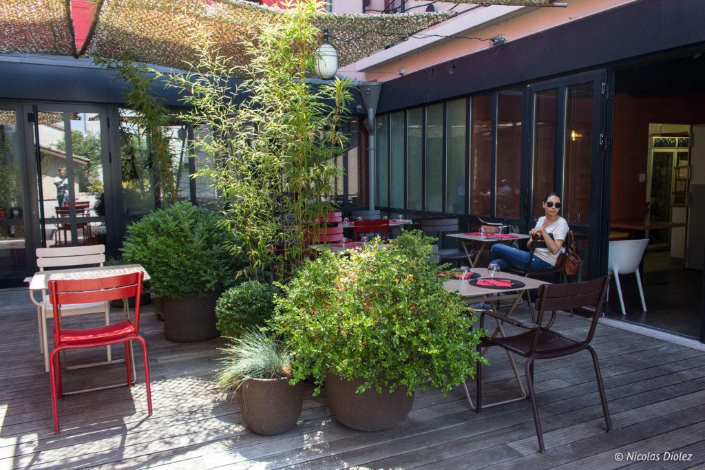 terrasse restaurant l'Échappée Belle Gers