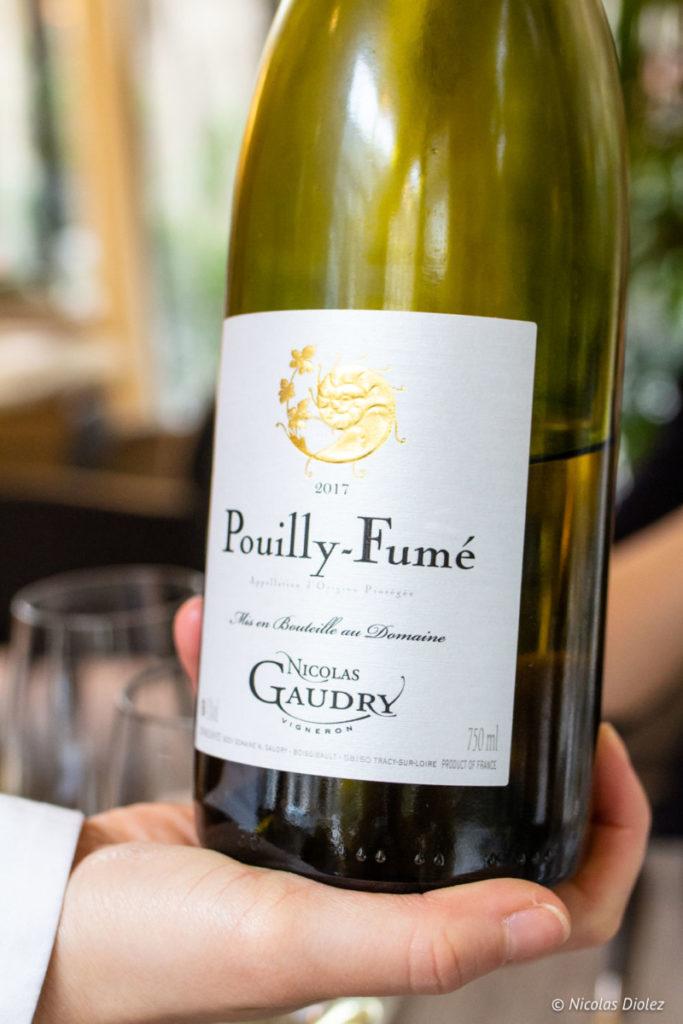 vin Pouilly Fumé restaurant Lumen Paris